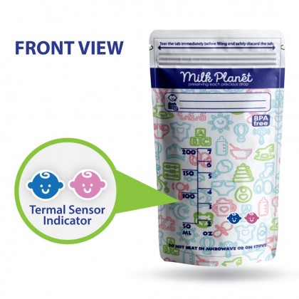 Milk Planet Premium Double Zip-lock Breastmilk Storage Bags (7oz/200ml)
