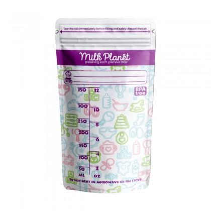 Milk Planet Premium Double Zip-lock Breastmilk Storage Bag (12oz/350ml)